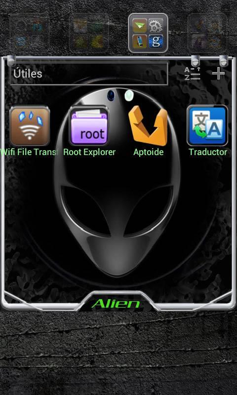 AlienICS Go Launcher Theme