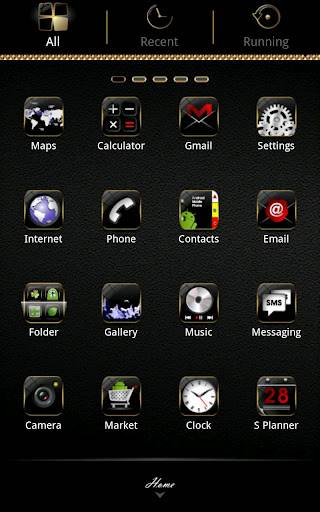 B.Gold GO Launcher Theme 1.3