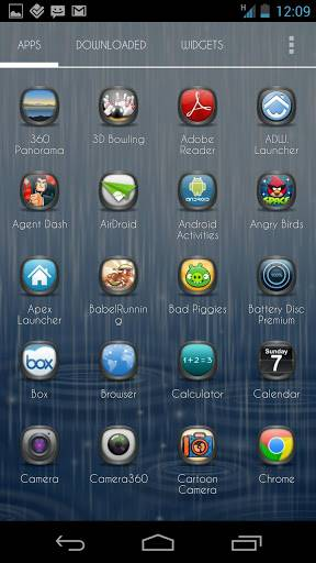 Rain GO Launcher Theme