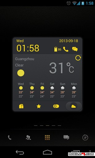 Dark Yellow Toucher Theme