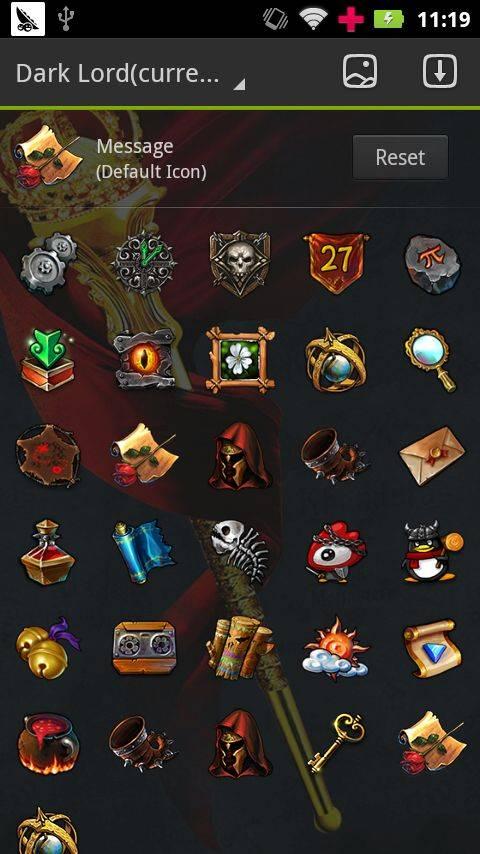 Darkloard GO Launcher Theme