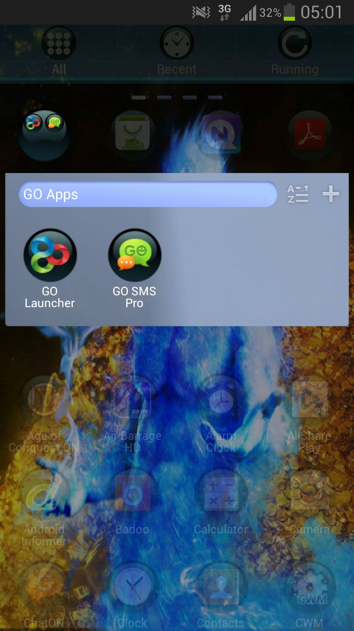 GO Launcher Theme Money Gold