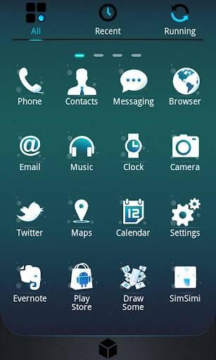 GlassBox GO Launcher Theme 1.3