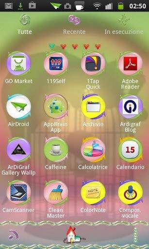Go Launcher Theme Sylvester wants Tweety