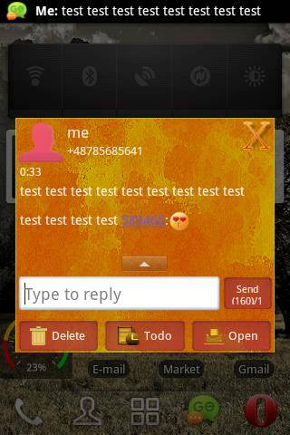 GO SMS Theme Orange Yellow