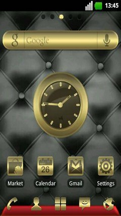 Gold& Leather GO Launcher EX Theme 1.2