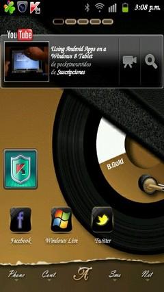 B.Gold golauncher EX theme v1.2