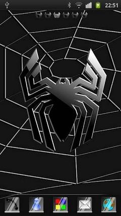 Black Spider Go Launcher Ex