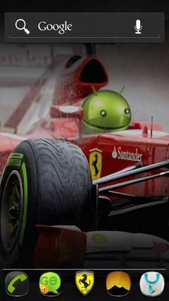 Ferrari F1 Go Launcher theme