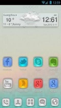 StainedGlass GO Launcher Theme v1.0