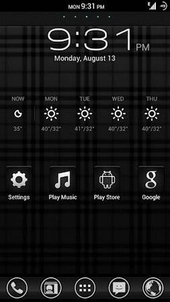 BLACK GO GO LAUNCHER THEME