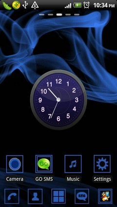 Blue Wind Theme Go Launcher