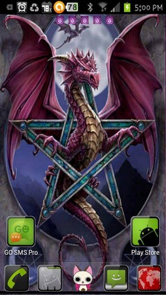 wiccan dragon moon
