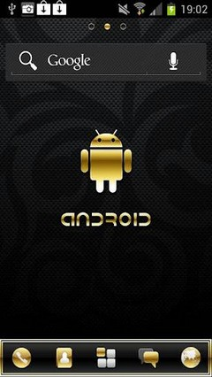 Gold Droid Pro GO Launcher Theme 2.1