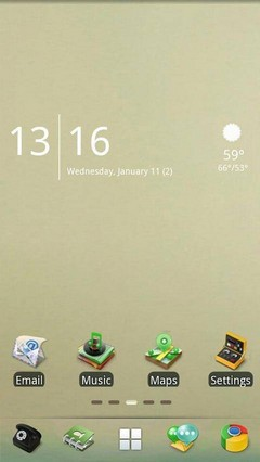 Fade Time Go Launcher EX Theme