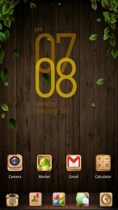 Wooden Box GO Launcher Theme