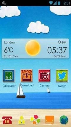 Sunshine GO Launcher Theme