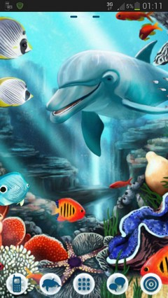 GO Launcher Theme water fish