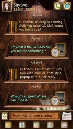 GO SMS Pro Savage Lagoon Theme