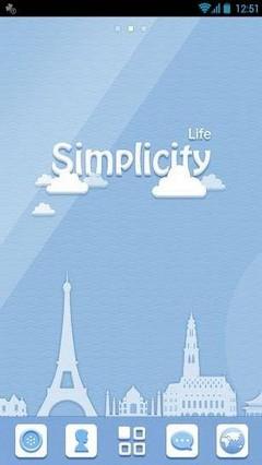 Simplicity GO Launcher Theme