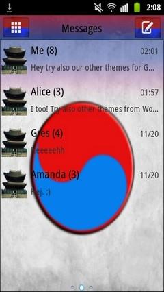 GO SMS PRO Theme Korea