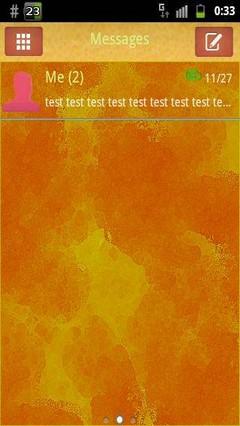 GO SMS Theme Orange Yellow