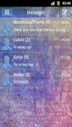 GO SMS Theme Stained NEON