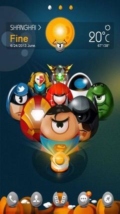 SuperFighter GO Launcher Theme