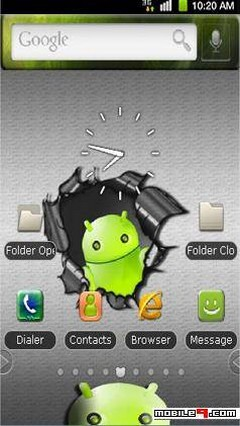 My Green Android panda home theme