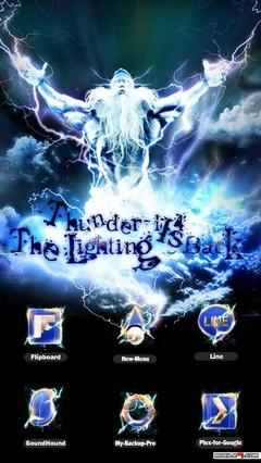 Thunder GO Nova LauncherEX Theme v2.0