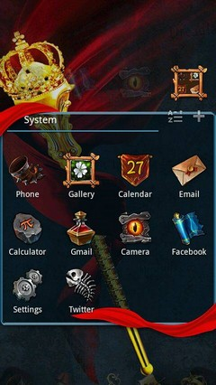 Darkloard GO Launcher Theme