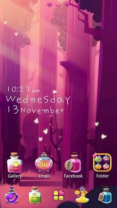 Bottle GO Launcher Theme