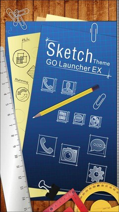 Sketch GO LauncherEX Theme