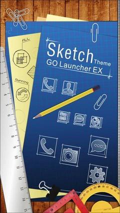Sketch GO LauncherEX Theme