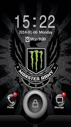 Monster Army GO Launcher Theme