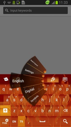 Flames Skin for Keyboard
