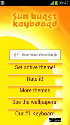 Sunburst Keyboard Theme