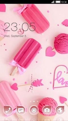 Pink Ice Cream Clauncher Theme