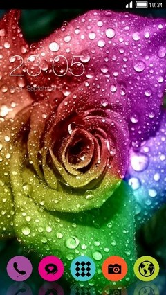 Rainbow Rose Clauncher Theme