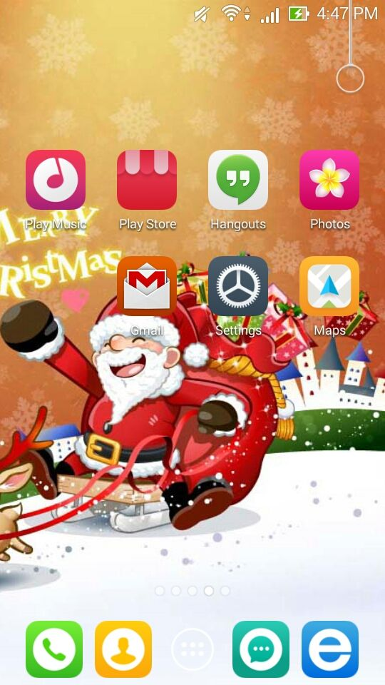 Santa Clause on Christmas
