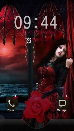 Gothic Girl Locker