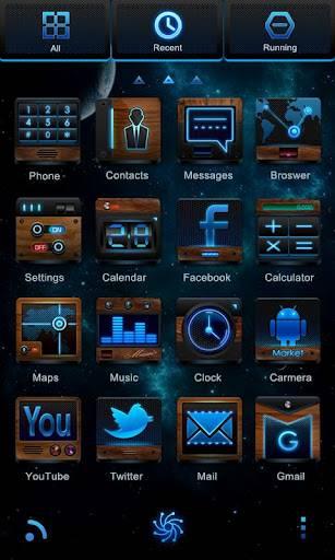 Blu ray GO LauncherEX Theme