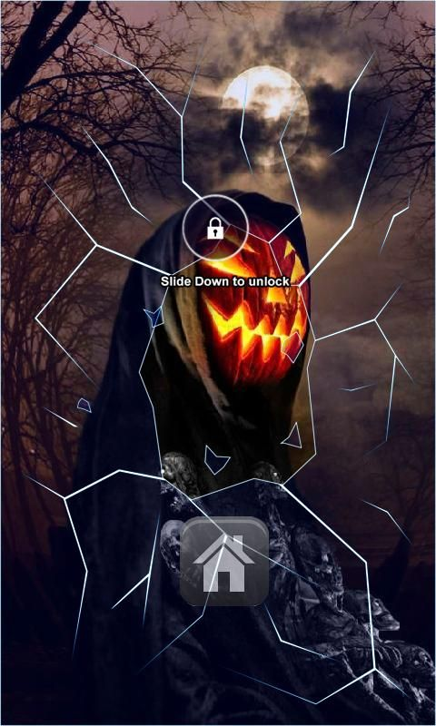 Evil Pumpkin Head Lock Screen