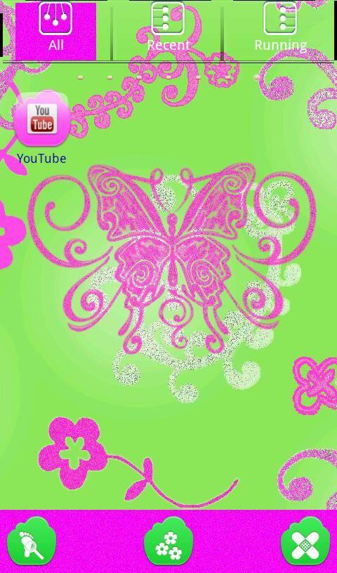 Pink Fairy Aryana Go Launcher Theme