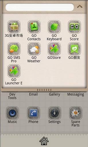 Sketch Theme GO Launcher EX
