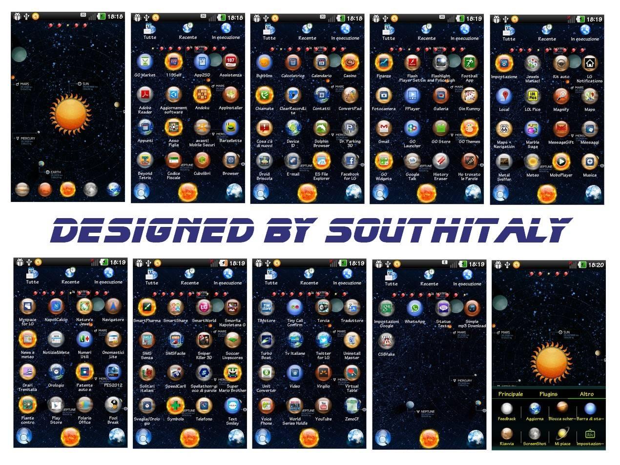 Solar System Go Launcher Theme