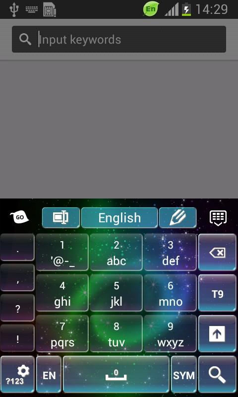 Sparkly Galaxy Keyboard-release
