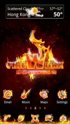 Firework Go Launcher EX Theme