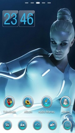 LightBlue Go Launcher Theme