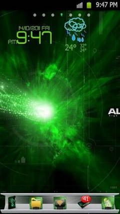 AlienwareGreen GoLauncherTheme